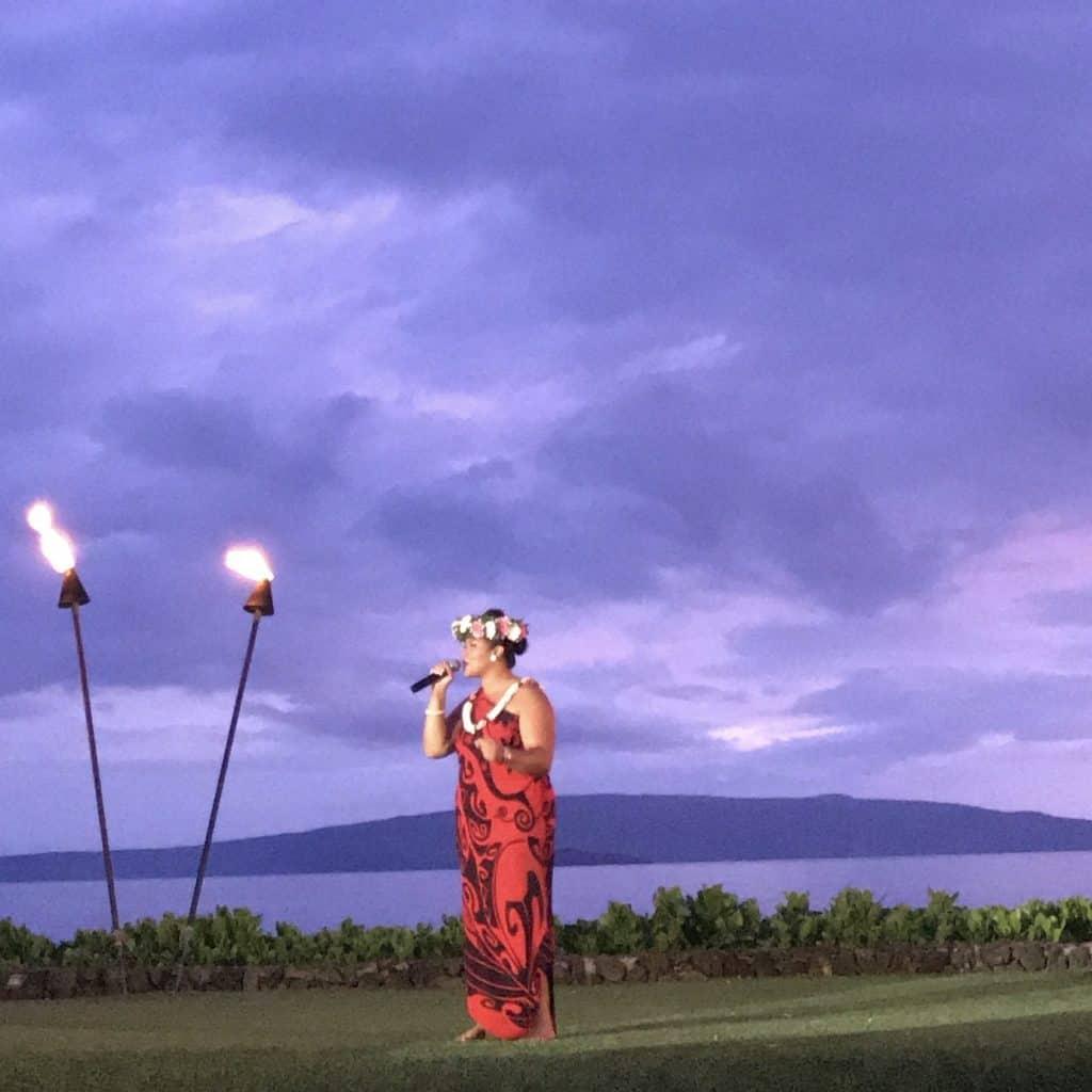 Luau dinner performance in Maui
