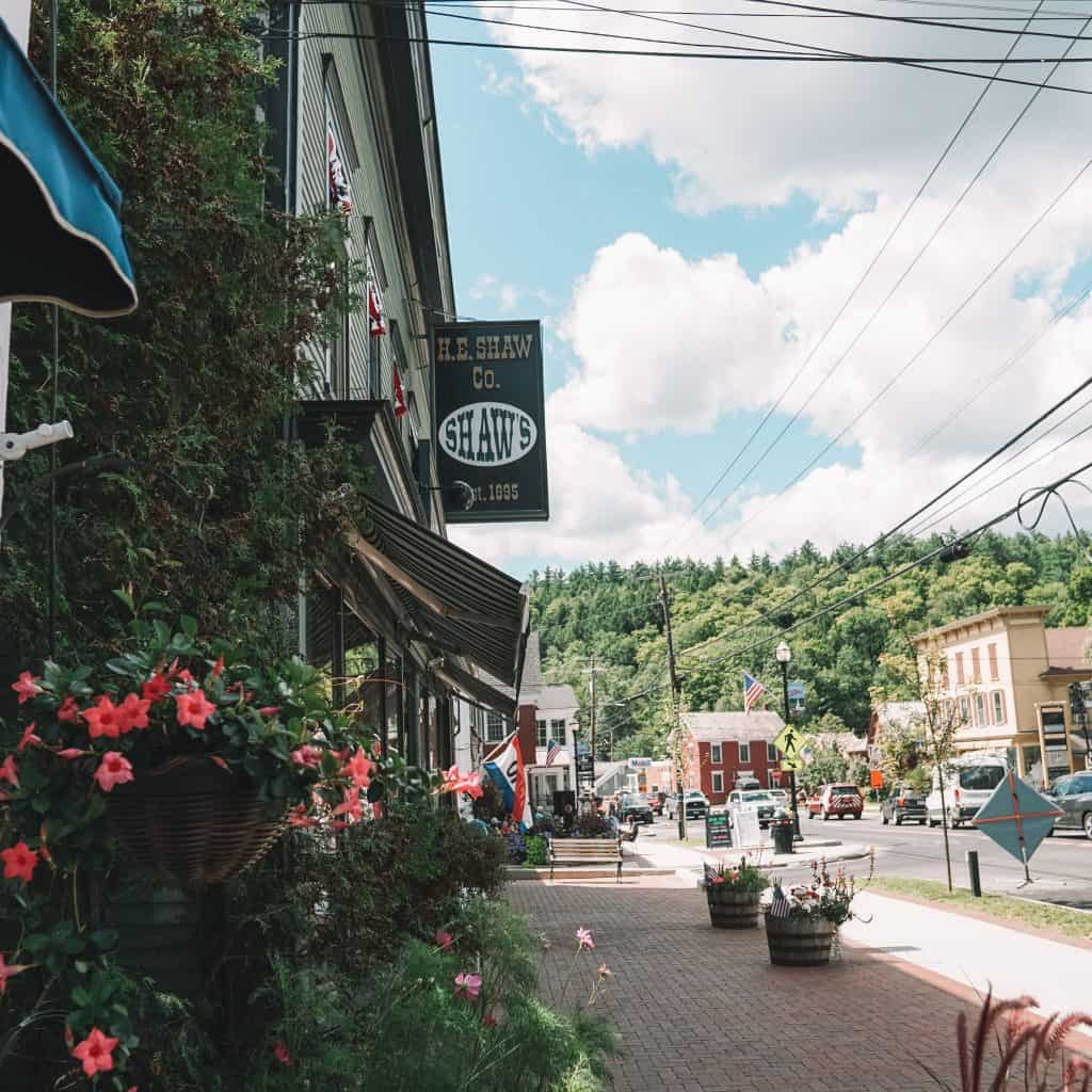 Stowe, Vermont downtown