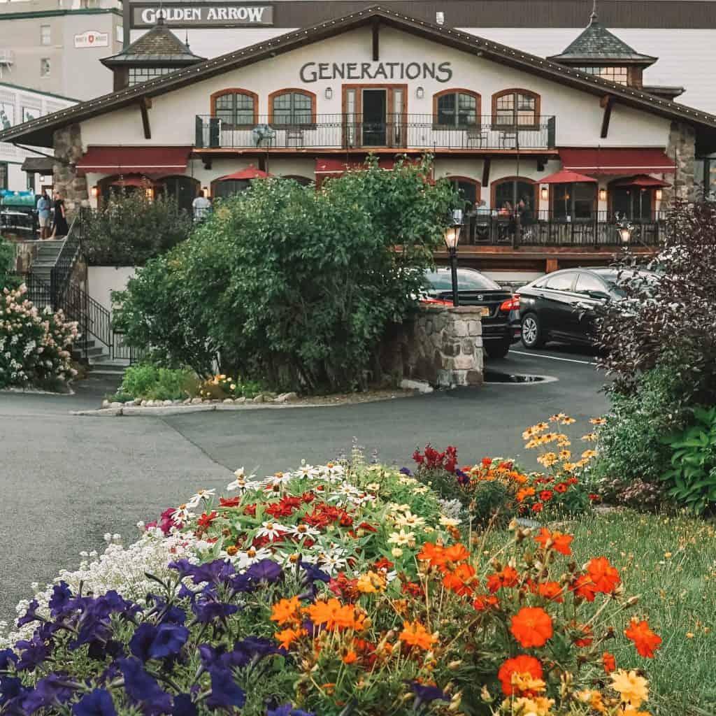 Generations Restaurant at the Golden Arrow Lakeside Resort in Lake Placid