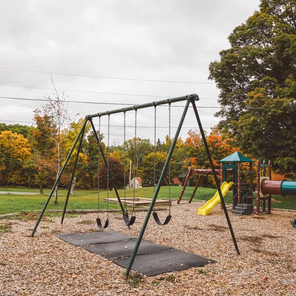 Playground in winter clove inn