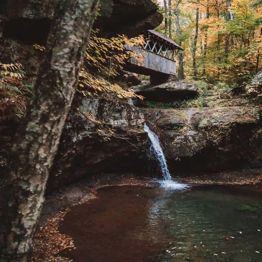 Artist Falls in Catskills New York