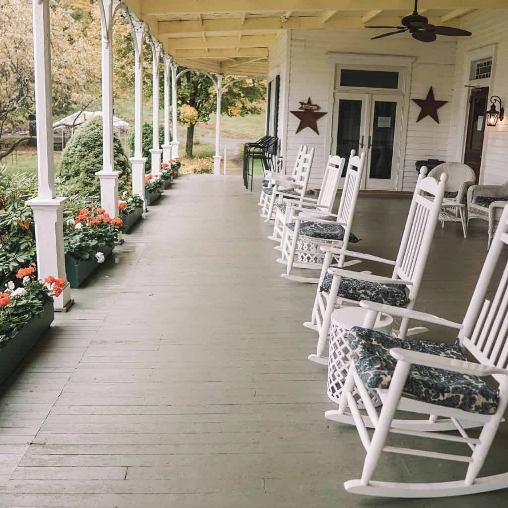 Porch at Winter Clove Inn