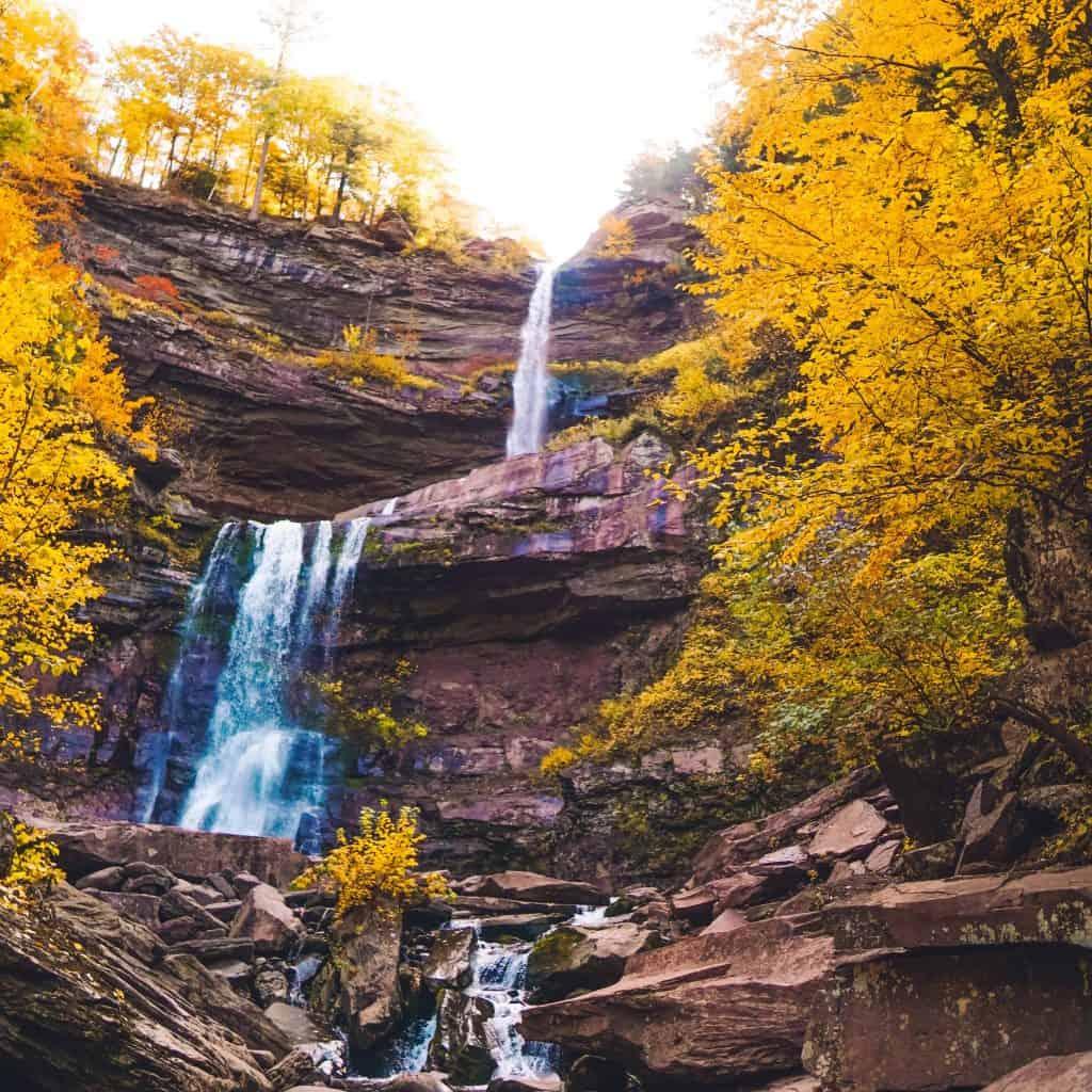 Kaaterskill Falls captured during Fall foliage in Catskills