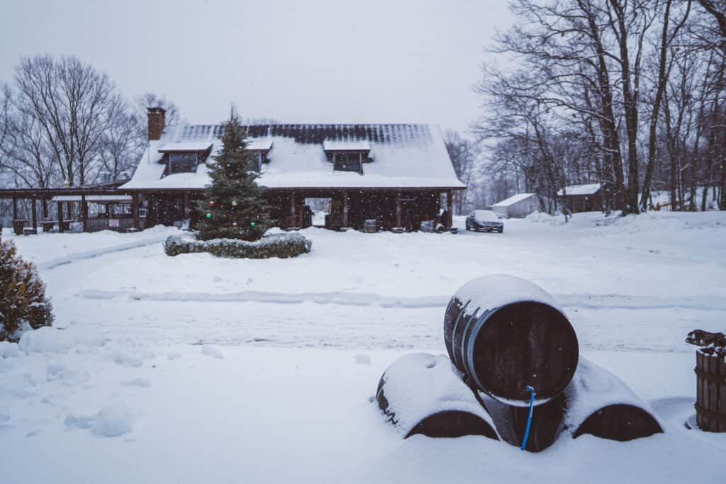 snow day at the benmarl winery