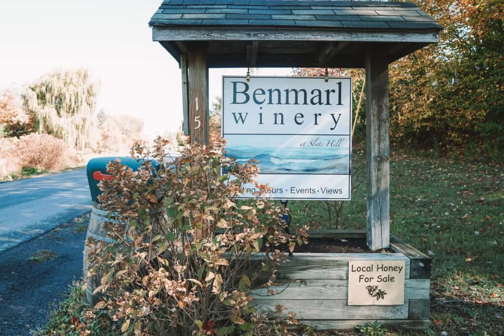 benmarl winery sign on the street