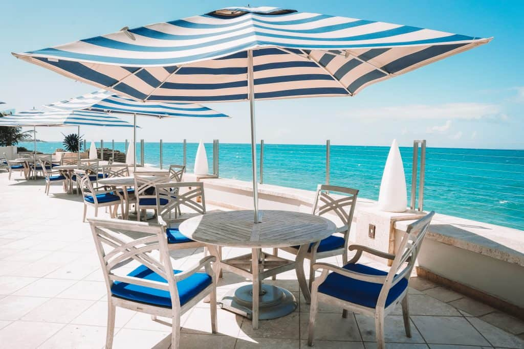 condado vanderbilt hotel outdoor seatings