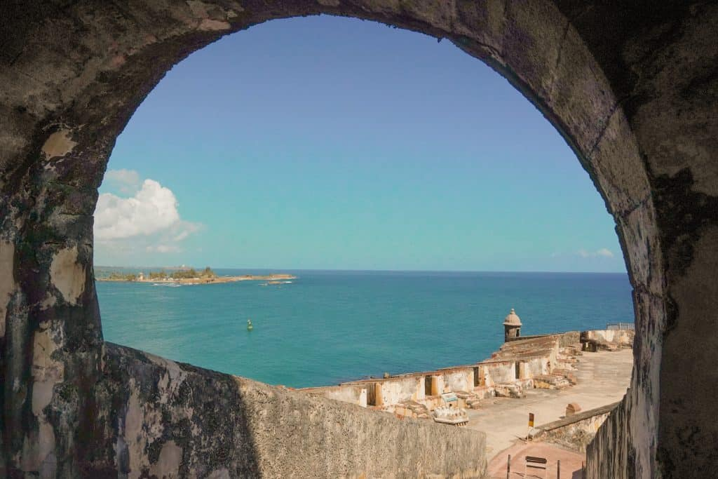Lookout with ocean view from El Morro Fort