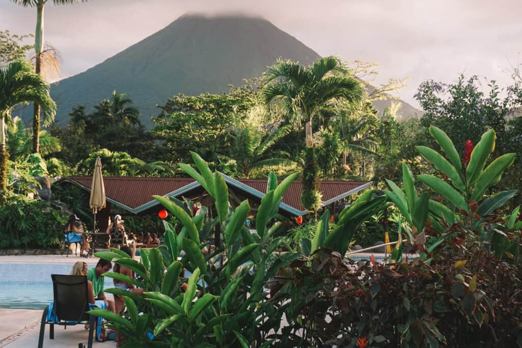 View of Arenal Volcano from Arenal Springs Resort and Spa