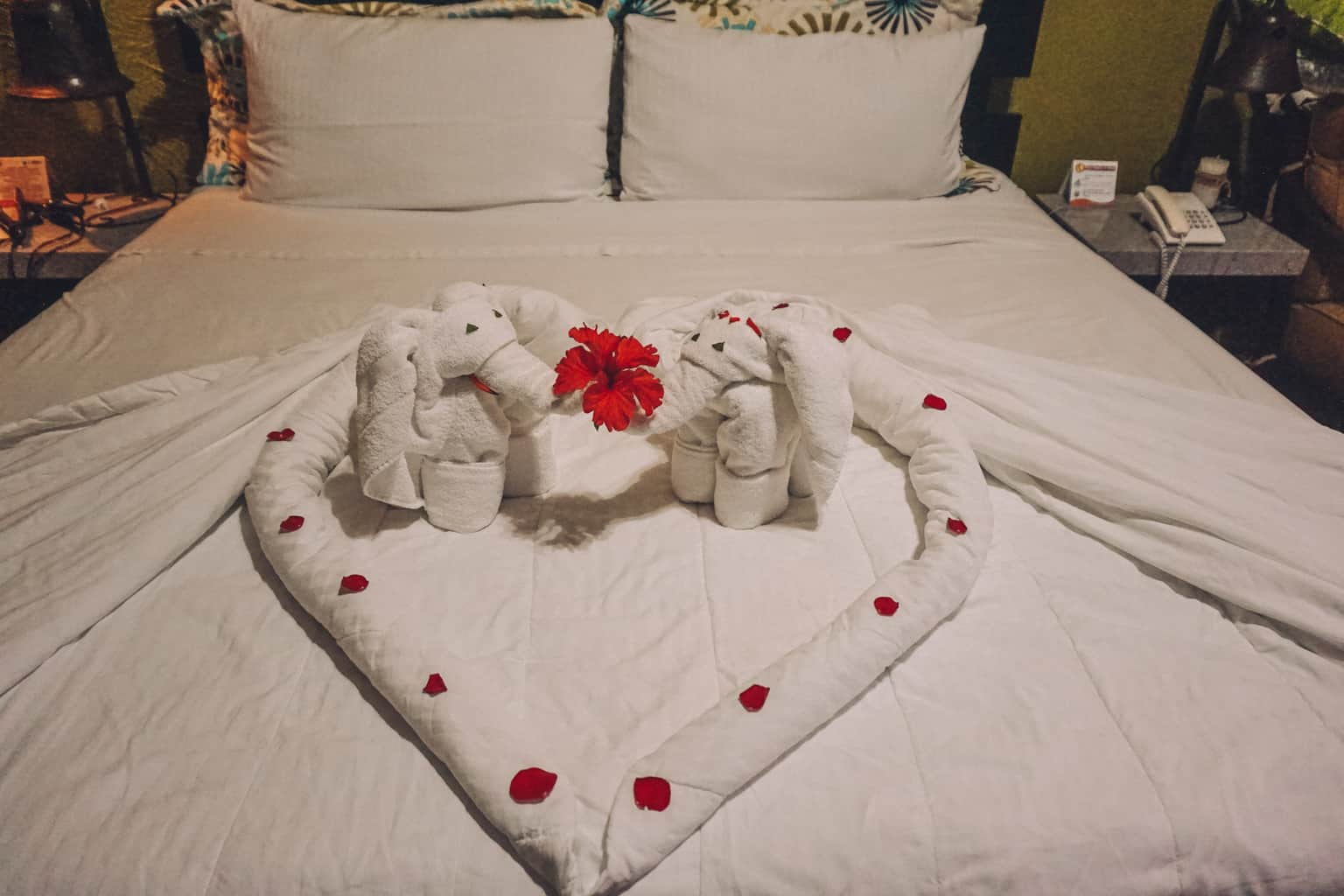 Hotel's towel decoration at Arenal Springs Resort and Spa in Costa Rica