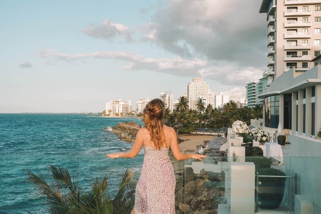Ocean view from Condado Vanderbilt resort in Puerto Rico
