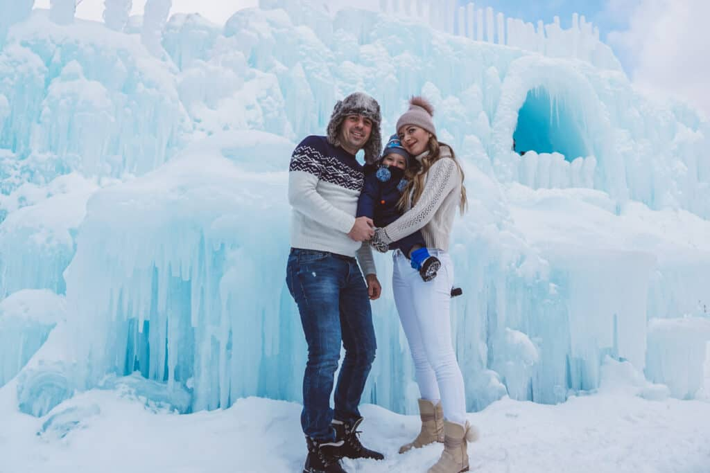 Ice Castles in Lincoln New Hampshire: Family Weekend Getaway