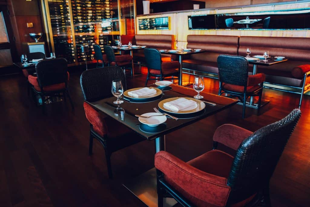 Indoor restaurant at Condado Vanderbilit hotel