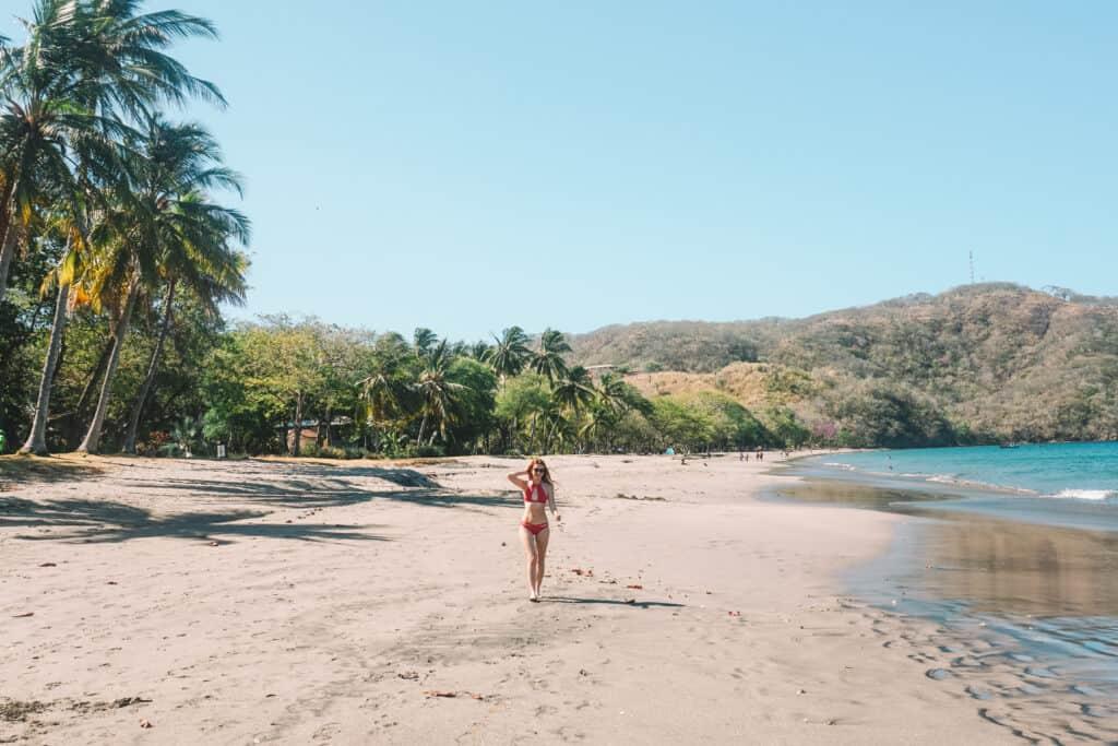 walking on the beach at playa hermosa