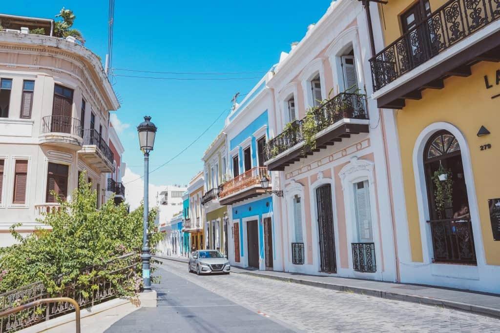 colorful street in Old San Juan
