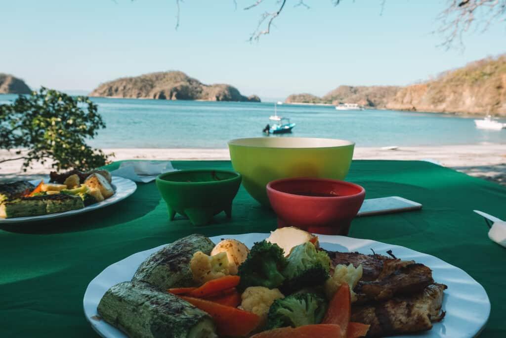 BBQ at the hidden beach in costa rica