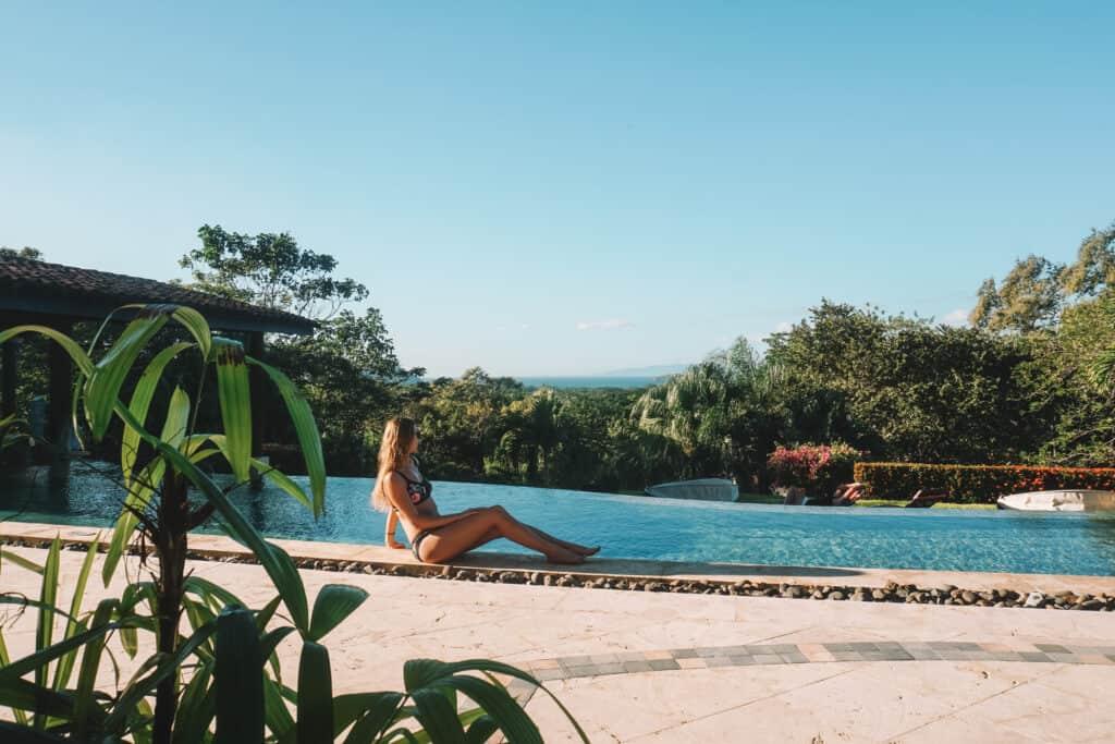 poolside view at Villa Buena Onda romantic hotel in guanacaste, costa rica